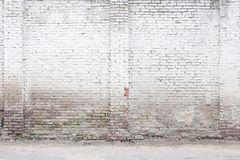 Abstract White Brick Background. Old White Brick Wall. Abstract Whitewash Brickwall Background Texture. Grunge Wallpaper or Web banner With Copy Space For design Royalty Free Stock Image