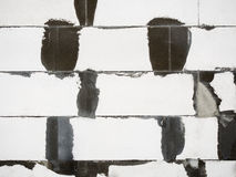 Abstract white bricks. Abstract white brick wall background. Horizontal architecture wallpaper royalty free stock image