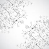 Abstract white bright technology hexagonal background. Connectio Royalty Free Stock Photography