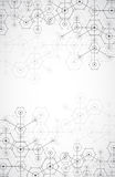 Abstract white bright technology hexagonal background.  Royalty Free Stock Images