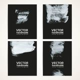 Abstract white brush texture handdrawing banner set 3 Royalty Free Stock Photo