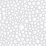 Abstract White Bubbles Seamless Background Pattern. Subtle Abstract Monochrome White 3D Bubbles Seamless Background Pattern. Vector Illustration. Pattern Swatch Royalty Free Illustration