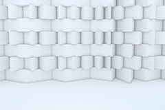 Abstract White Building Construction. For background royalty free illustration