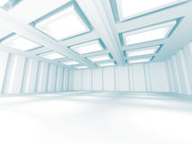 Abstract White Building Construction Background. 3d Render Illustration stock illustration