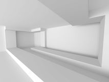 Abstract White Building Interior background. Modern Architecture. Concept. 3d Render Illustration stock illustration