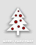Abstract white christmas tree with red balls Royalty Free Stock Photography