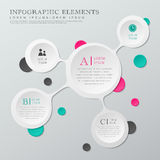 Abstract white circle infographics Stock Image