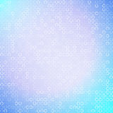 Abstract white circles on light blue background. Vector illustration Royalty Free Stock Photo