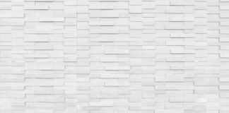 Abstract White Clean Structural Brick Wall. olid Surface. stock photography