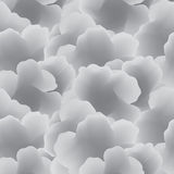Abstract White Cloud Seamless Vector Pattern. Royalty Free Stock Photo