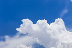 Abstract white clouds with blue sky background Royalty Free Stock Photo