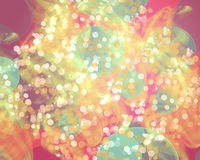 Abstract white colorful bokeh wallpaper Royalty Free Stock Image