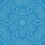 Abstract background with concentric pattern. Abstract white concentric pattern on blue background Stock Image