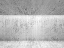 Abstract white concrete room interior. Front view Stock Image