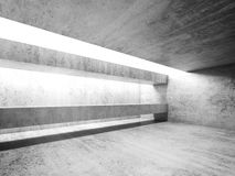 Abstract white concrete room interior. Front view Stock Photography