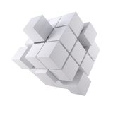 Abstract white cube Royalty Free Stock Images