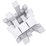 Abstract white cube Royalty Free Stock Photography