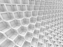 Abstract White Cube Shape Blocks Wall Background. 3d Render Illustration vector illustration