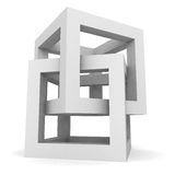 Abstract White Cube Structure Object Stock Images