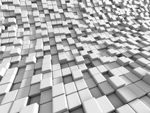 Abstract White Cubes Blocks Background. 3d Render Illustration Stock Image
