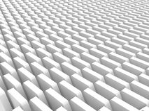 Abstract White Cubes Blocks Wall Background. 3d Render Illustration Stock Photo