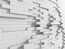 Abstract White Cubes Blocks Wall Background. 3d Render Illustration Stock Photography