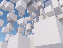 Abstract white cubes Royalty Free Stock Photography