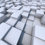Abstract white cubes Stock Images