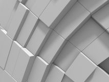 Abstract White Cubes Wall Background. 3d Render Illustration Royalty Free Stock Image