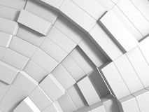 Abstract White Cubes Wall Background. 3d Render Illustration Royalty Free Stock Images