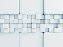 Abstract White Cubes Wall Background Royalty Free Stock Photo