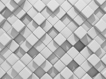 Abstract White Cubes Wall Background. 3d Render Illustration Stock Photography