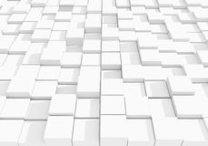 Abstract white cubic background - 3D rendering.  Stock Photography