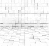 Abstract white cubic background - 3D rendering.  Stock Images