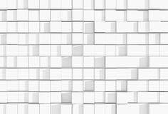 Abstract white cubic background - 3D rendering Stock Photography