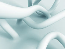 Abstract White Curves Design Background Stock Photography