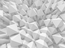 Abstract white 3d background. With polygonal pattern Royalty Free Stock Photos