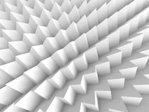 Abstract white 3d background. With polygonal pattern Stock Image