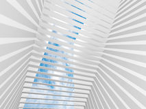 Abstract white 3d interior background Royalty Free Stock Images