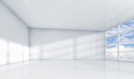 Abstract white 3d interior, empty office room Royalty Free Stock Images
