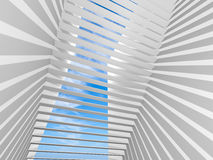 Abstract white 3d interior with shadows pattern Stock Photography
