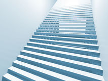 Abstract white 3d interior with staircase Royalty Free Stock Photos