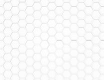 Abstract white 3D render hexagonal geometric structure background Stock Photo