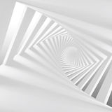 Abstract white 3d spiral corridor. Abstract white twisted spiral corridor interior, 3d render illustration Stock Photos
