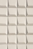 Abstract white decoration of an outside wall Royalty Free Stock Photography