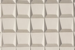 Abstract white decoration of wall Stock Image