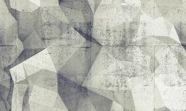 Abstract white digital 3d polygonal background texture Stock Photography