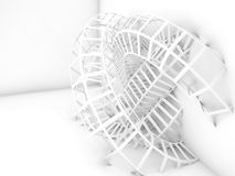 Abstract white digital background, bent wire knot Royalty Free Stock Photography