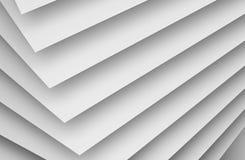 Wall installation pattern. 3d illustration. Abstract white digital background, geometric pattern of paper sheets. 3d render illustration vector illustration