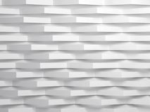 Paper stripes corners over wall. 3d. Abstract white digital background pattern, paper stripes corners over wall. 3d render illustration Royalty Free Stock Photography